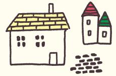 一軒家のイラスト画像