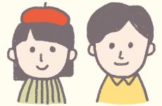 女の子と男の子のイラスト画像