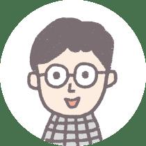 メガネをかけた男性のイラスト画像